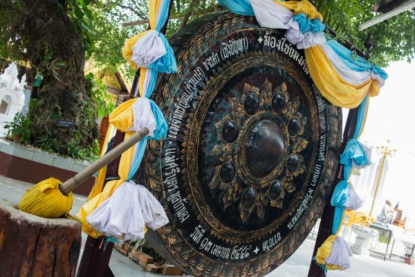 Un gong dans un temple