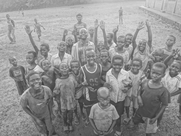 Un groupe d'enfants vaccinés
