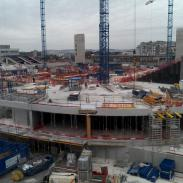 Arena 92 en construction - Octobre 2014